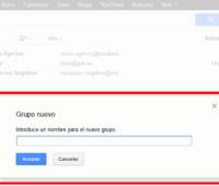 Crear grupos de contactos en google mail