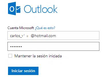 Inicia sesión en Outlook.com