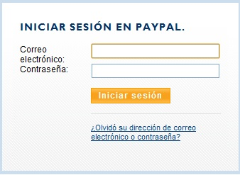 Iniciar sesion paypal