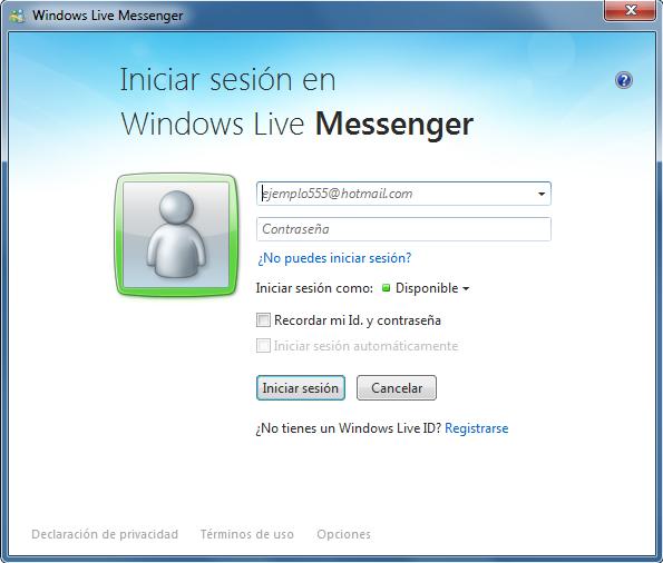 iniciar sesion messenger