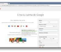 Porque en gmail crear cuenta?