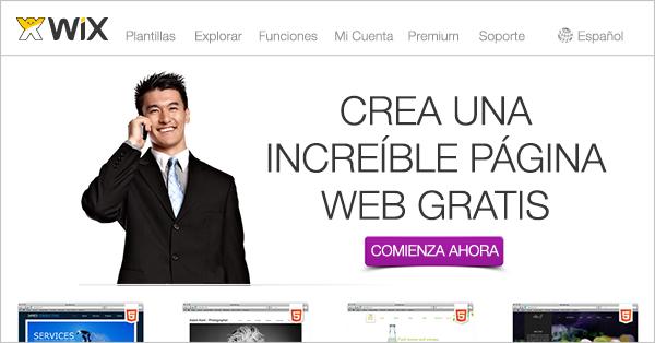 Crear pagina web wix