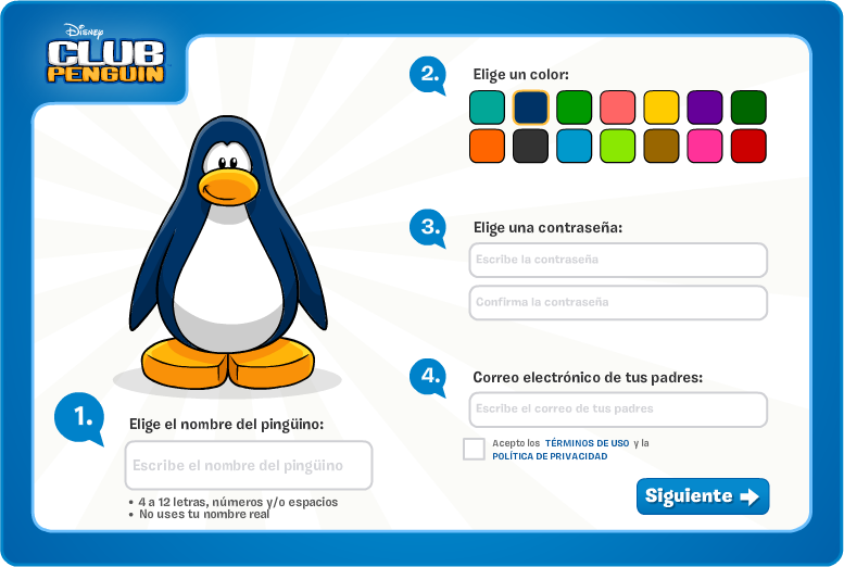 Crear club penguin