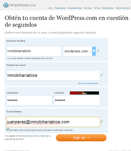 wordpress español