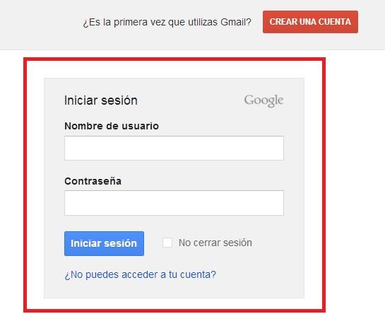 gmail correo iniciar sesión